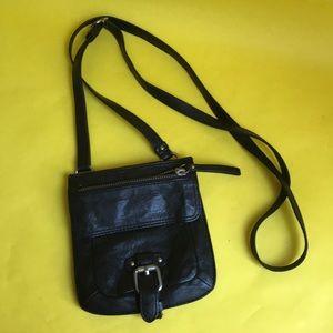Black Banana Republic leather crossbody bag